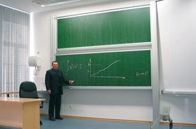 Tablica akademicka niezależna zielona do kredy, magnetyczna, ceramiczna P3 100x200 cm