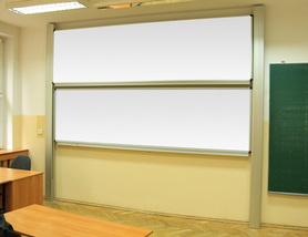 Tablica akademicka zależna biała suchościeralna, magnetyczna 100x300 cm