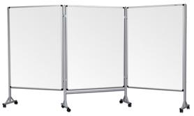 Mobilny tryptyk parawanowy-suchościeralny, magnetyczny 100x120 cm (3 ścianki)