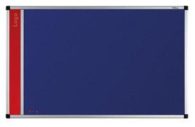 Tablica na logo tekstylna w ramie aluminiowej B1 (niebieski-unijny) 90x120 cm