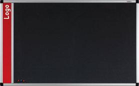 Tablica na logo tekstylna w ramie aluminiowej B1 (szara) 90x120 cm