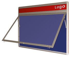 Gablota Oxford tekstylna wewnętrzna z logo 99x104