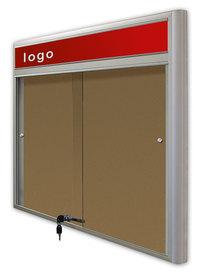 Gablota Casablanka eco  korkowa-drzwi przesuwane z logo 89x120 (10xA4)