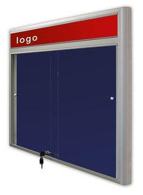 Gablota Casablanka eco  tekstylna-drzwi przesuwane z logo 89x120 (10xA4)