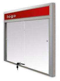 Gablota Casablanka eco magnetyczna-drzwi przesuwane z logo 89x98 (8xA4)