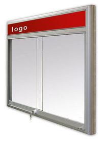 Gablota Casablanka magnetyczna-drzwi przesuwane z logo 6xA4