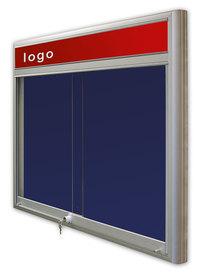 Gablota Casablanka tekstylna-drzwi przesuwane z logo 10xA4