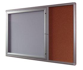 Gablota Oxford z panelem bocznym korkowym 107x137
