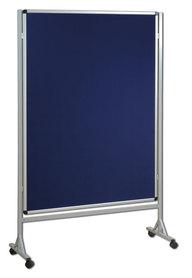 Mobilna ścianka tekstylna (niebieski-unijny) 120x120 cm