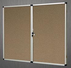 Gablota wewnętrzna Lisbona -L1 korkowa 90x120cm 2-drzwiowa