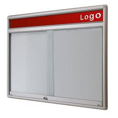 Gablota Dallas  Magnetyczna-drzwi przesuwane z logo 121x98 (12xA4)