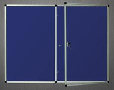 Gablota wewnętrzna Lisbona -L1 tekstylna 90x120 cm dwudrzwiowa